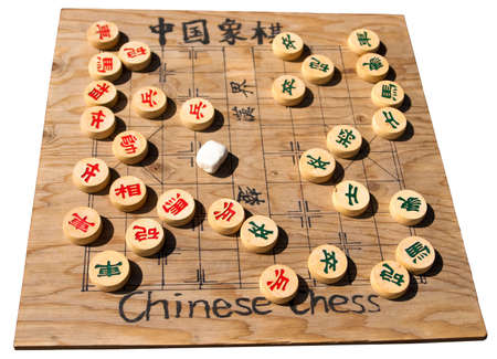 Old wooden Chinese chessboard