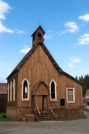 Old wooden historical church built in 1800s