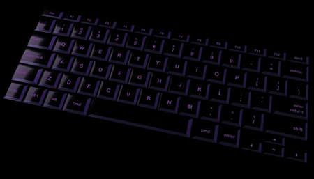 Black und lila gl�nzenden Laptop-Tastatur