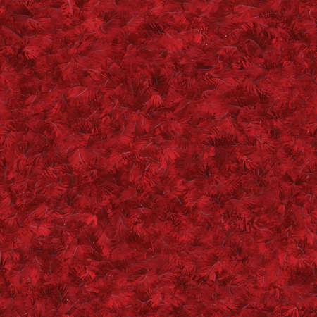 テクスチャの赤い羽のシームレスなパターン タイル