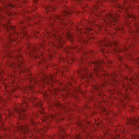 Seamless pattern tile of textured red feathers photo