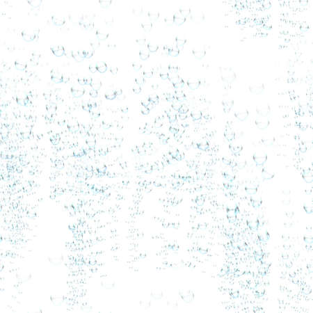 Seamless pattern tile of sparse bubbles against white