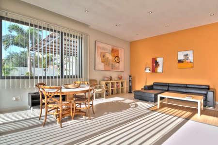 modern living: Living room in modern style Stock Photo
