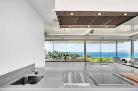 aluminum: Luxury villa interior Stock Photo