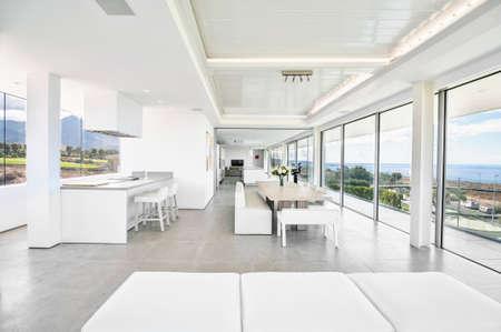 Luxe villa interieur Stockfoto