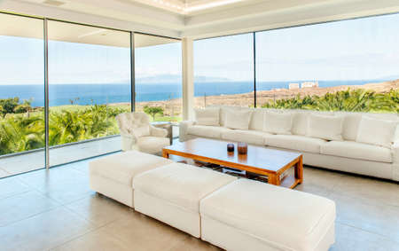 Luxury villa interior Banque d'images