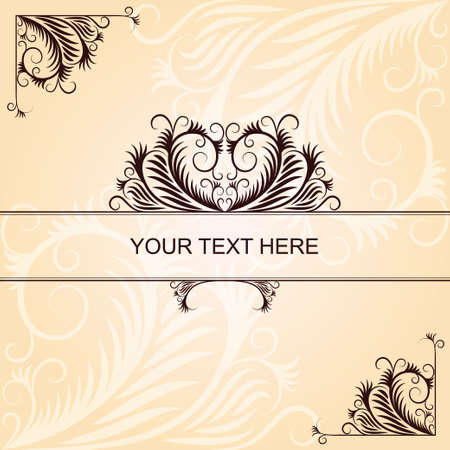 Brown vintage pattern with angular elements Vector