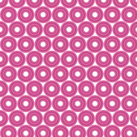 volumetric: C�rculos rosados ??volum�tricas sobre un fondo blanco
