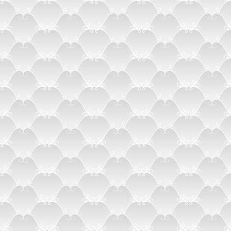 volumetric: Vintage fondo blanco brillante con l�neas curvas (textura seamless). Patr�n floral Gray. Gradiente volum�trico.