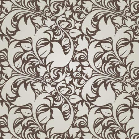 Dark vintage floral background  seamless Stock Vector - 17510868
