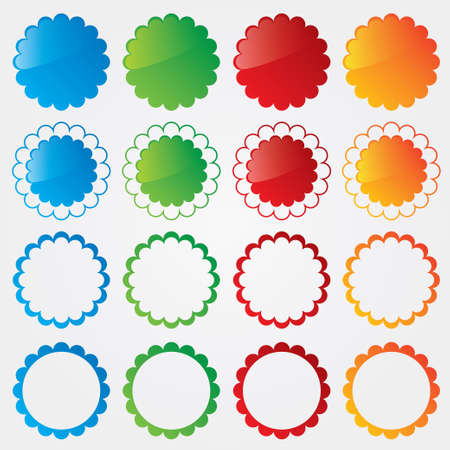 Colorful price tags collection   Special offer labels set  Stock Vector - 17510894