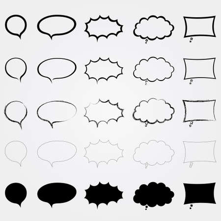 Comic speech bubbles set  Different styles  Isolated elements Stock Vector - 17510893