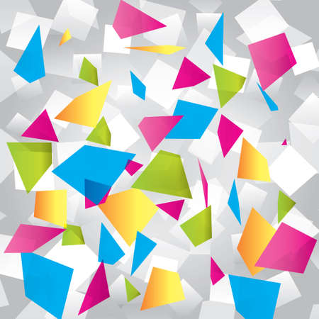 Light colorful abstract background with geometrical figures Stock Vector - 17510898