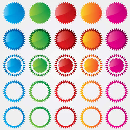 Colorful price tags collection (sale). Different styles. Special offer labels set (blue, green, red, orange, pink). Stock Vector - 17883452