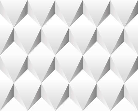 White volumetric abstract texture (seamless). Modern concept pattern (rhombus). photo