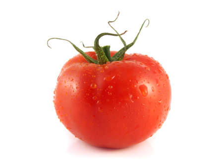Fresh red ripe tomato. Isolated on a white background. photo