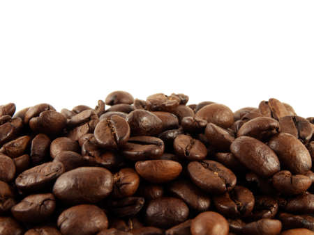 Coffee beans on a white background. Isolated. photo