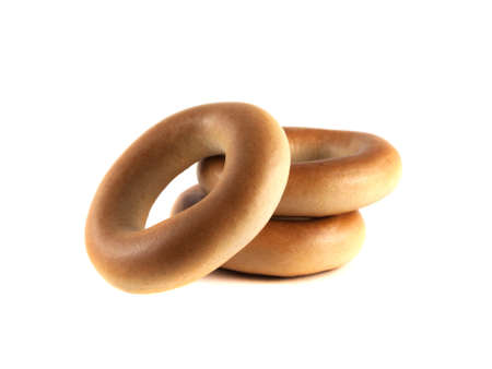 Bagels isolated on white background (three). photo