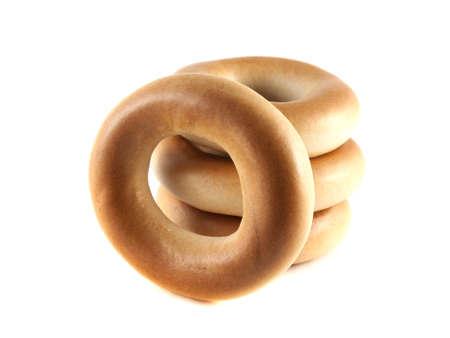 baranka: Bagels isolated on white background (four).
