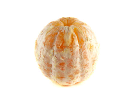 cleaned: Ripe cleaned orange isolated on white background. Fresh diet citrus fruit (health). Healthy fruit with vitamins.