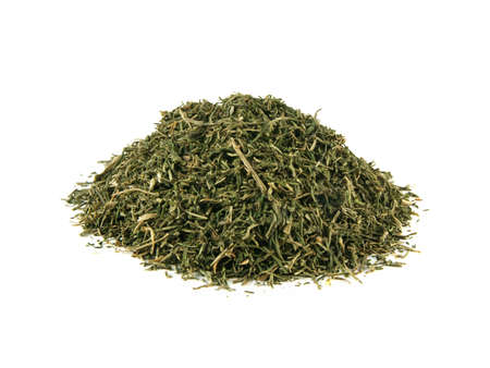 Heap dried dill isolated on white background Stock Photo