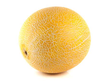 Ripe melon isolated on white background photo