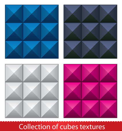 Seamless  abstract cubes pattern  Vector