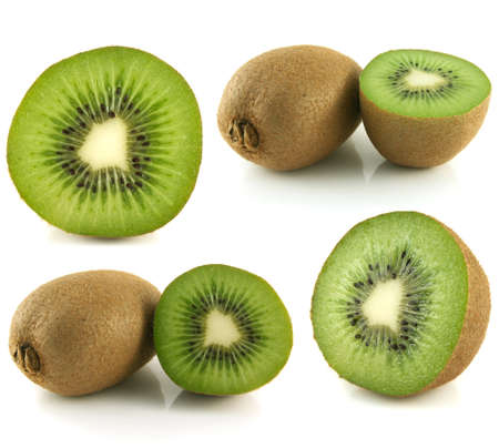Kiwi collection isolated on white background (set). photo
