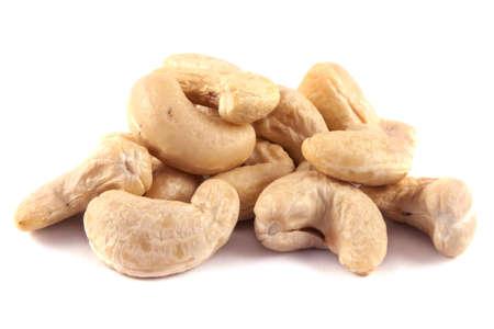 Cashew nuts isolated on white background. 版權商用圖片