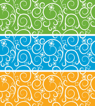 Seamless vector abstract pattern. Colorful floral texture. Abstract set, collection. Vector