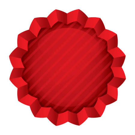 Price tag template. Red round star sticker. Icon for shopping (sale, special offer). Isolated on white. photo