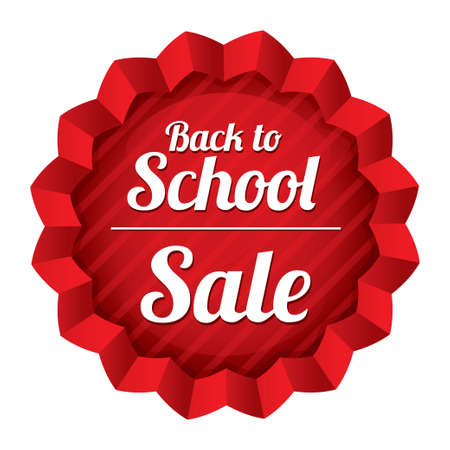 Back to school sale. Sticker with texture. Illustration. Tag. Isolated on white. illustration