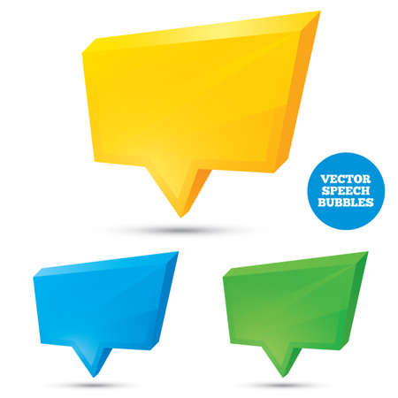 Colorful 3d speech bubbles . Vector illustration for your design. Eps 10. Vector