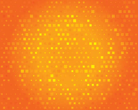 Abstract background for design. Orange geometric squares pattern for your text. Illustration. Stock Photo