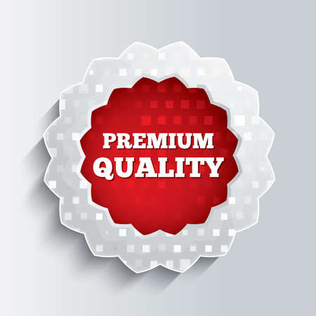 Premium quality glass star button. Illustration. Realistic icon. illustration