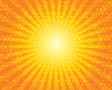Sunburst Pattern with squares. Stock Photo - 23805679