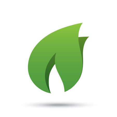 Eco icon green leaf illustration. Eco logo concept. Vector