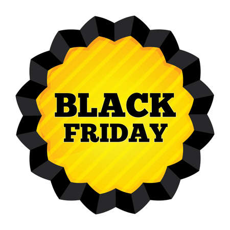 Black Friday Sale label on white background. Special offer sticker. Black Friday banner. Vector illustration. Vector