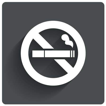 cigar smoke: No smoking sign. No smoke icon. Stop smoking symbol. Vector illustration. Filter-tipped cigarette. Icon for public places.