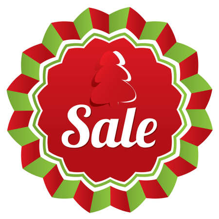 Christmas sale, special offer label. Paper Christmas tree. New year tag star. Icon for special offer. Black friday. photo