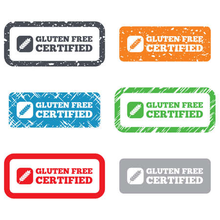 Gluten free sign icon. No gluten symbol. Retro Stamps and Badges. Vector Vector