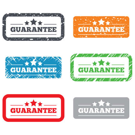 Guarantee sign icon. Certificate symbol. Retro Stamps and Badges. Vector Vector