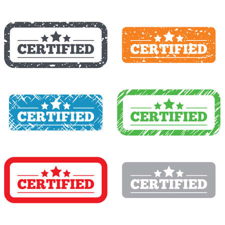 authorized: Certified sign icon Stock Photo