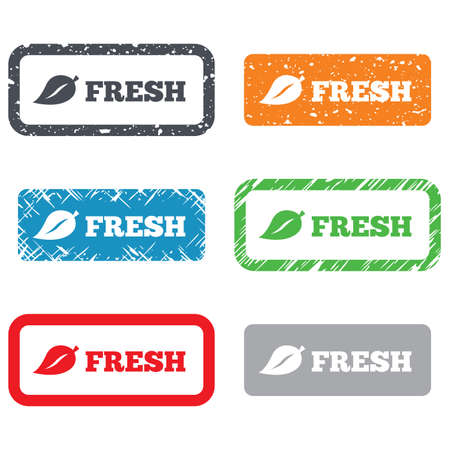 Fresh product sign icon photo