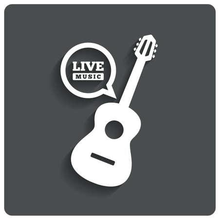 Acoustic guitar icon photo