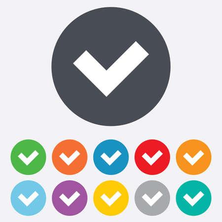 check sign: Check sign icon Illustration