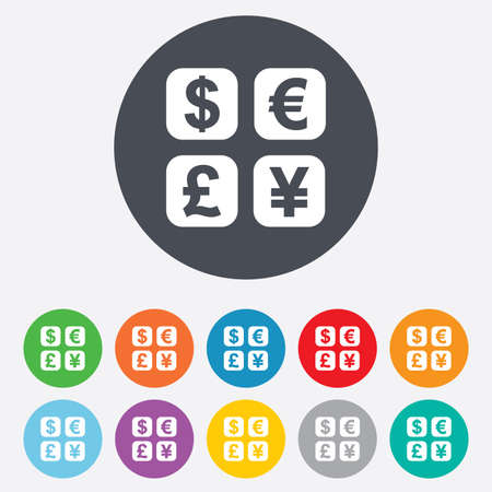 currency converter: Currency exchange sign icon Illustration