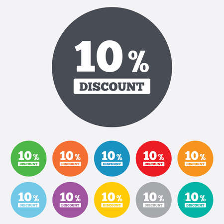 10 percent discount sign icon Vector