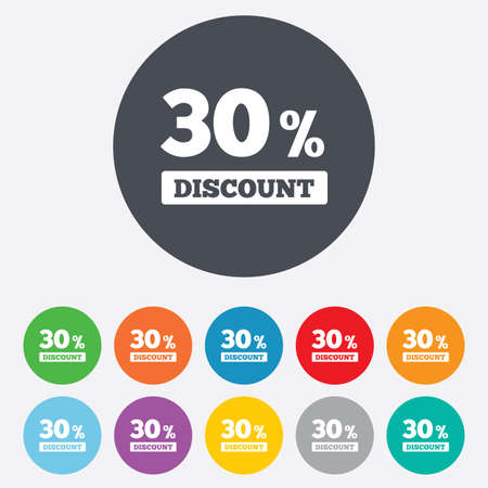 30 percent discount sign icon Vector