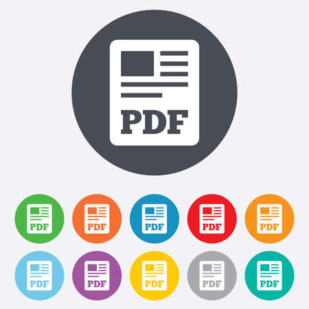pdf: PDF file document icon Illustration